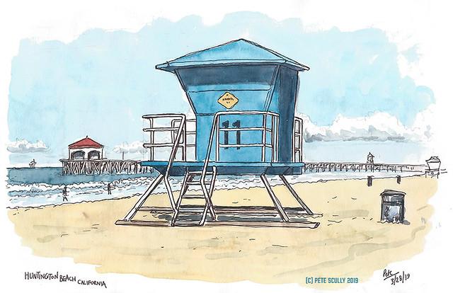 Huntington Beach Lifeguard Hut