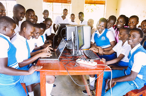 Abundant corn harvest provides staple for children's meals; high school receives new laptops to enhance students' education; plans to improve rural primary school | by Peace Gospel