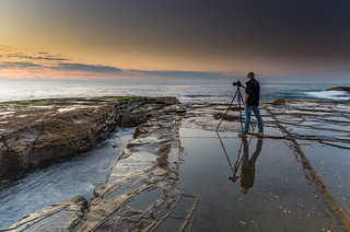 Wet Reflections - Photographer and the Sea | by Merrillie