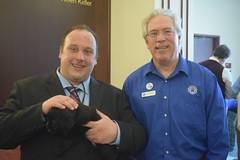 CT State Rep. Brian Lanoue (R-Griswold, Lisbon, Plainfield, Sterling, Voluntown) at the CT Humane Society Legislative Breakfast on Tuesday, February 5, 2019 at the Legislative Office Building.