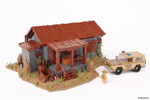 Stranger Things   Sheriff Hopper's Cabin + Chevrolet Blazer
