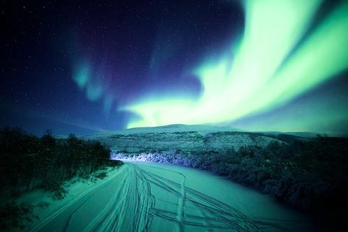 auroraborealis night nightscape northernlight norway stars starryskies masjok tana finnmark