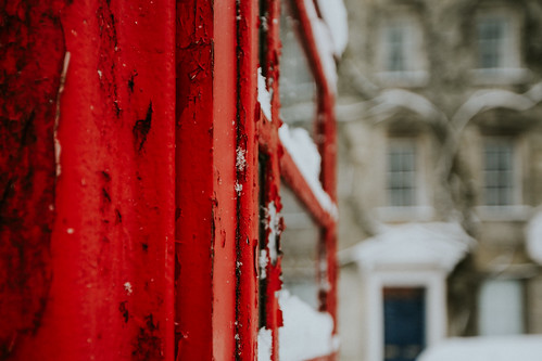 the little red phone box... | by Jess Feldon