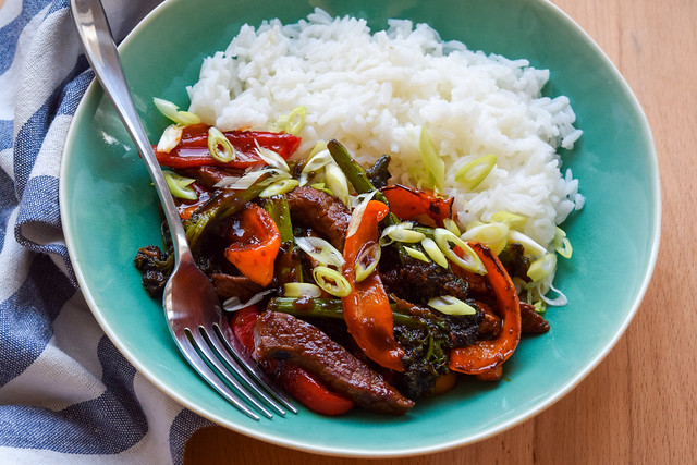 Korean Steak, Pepper & Broccoli Stir Fry