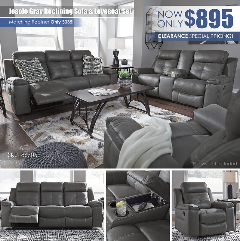 Jesolo Gray Reclining Sofa OR Loveseat Special_86705-MOOD-A_ALT
