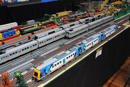 Lego models of X'Trapolis, Hitachi and 4D trains