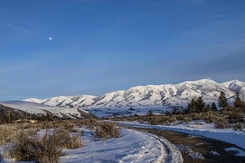 portneufrange southeastidaho winter moon