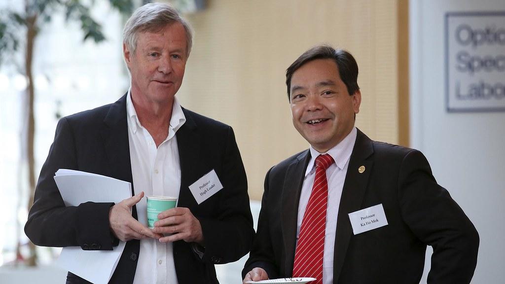 Professor Hugh Lauder and Professor Ka Ho Mok at the launch event.