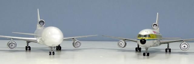 Lockheed L-1011 Tristar 500 NG vs old Gemini Jets