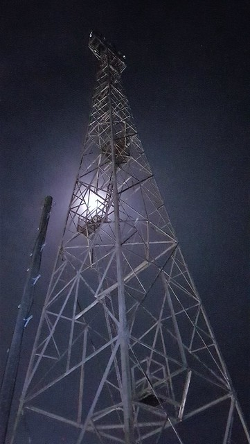 Moonlight Through Tower Spars