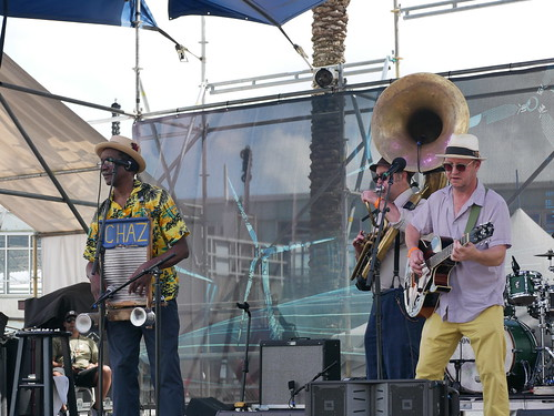 Tin Men on Day 1 of French Quarter Fest - 4.11.19. Photo by Louis Crispino.