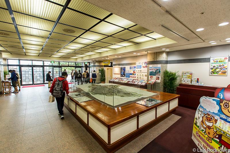 Interior del centro de información