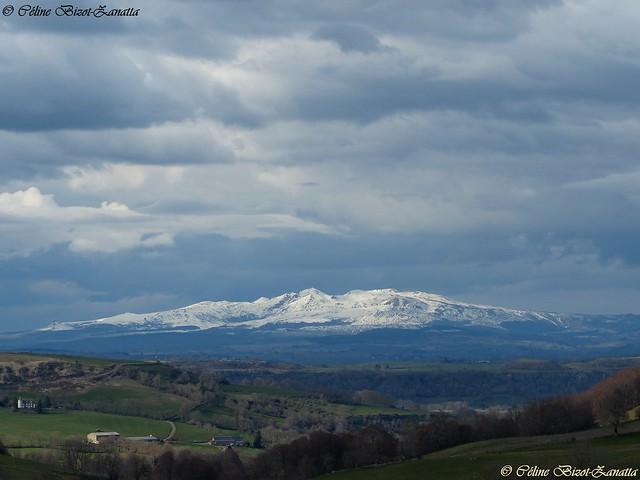 Le majestueux Massif du Sancy, vu du Cantal - Auvergne - France - Europe