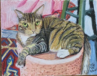 Portrait of Eemie the Cat, RIP | by FeebeeSparrow
