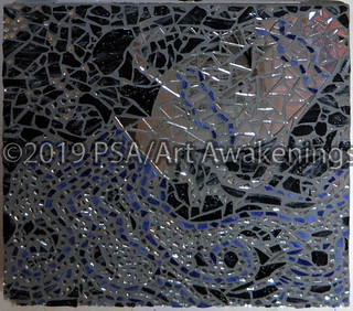 ''Aquarius'' by TL Hall, mosaic, $100.00 | by Art Awakenings