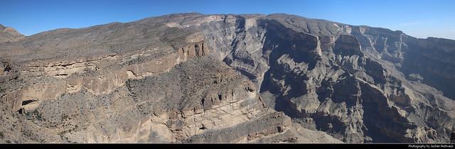 Panoramic view, Jebel Shams, Oman