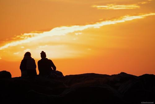 morningview lowerslowerdelaware lsd lewes lewesde delaware de silhouette silhouettes jetty sunrise sunlight watchingthesunrise wintersky sussexcounty seaside capehenlopenstatepark capehenlopen statepark