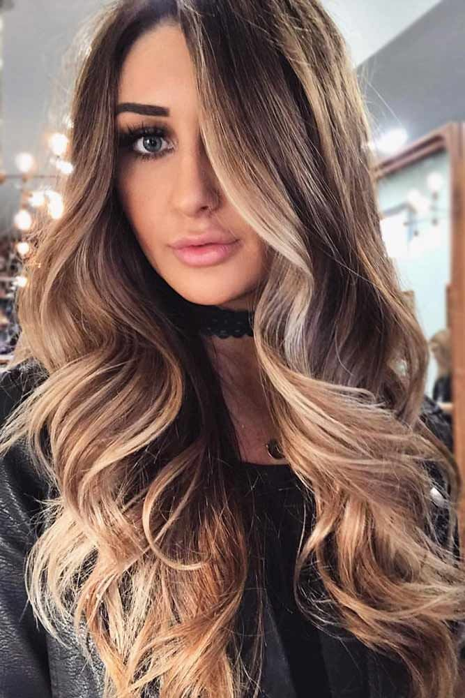 Balayage on brunette hair