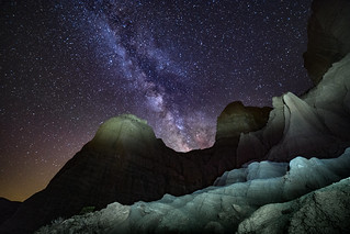 milky way over Red Rock State Park, California