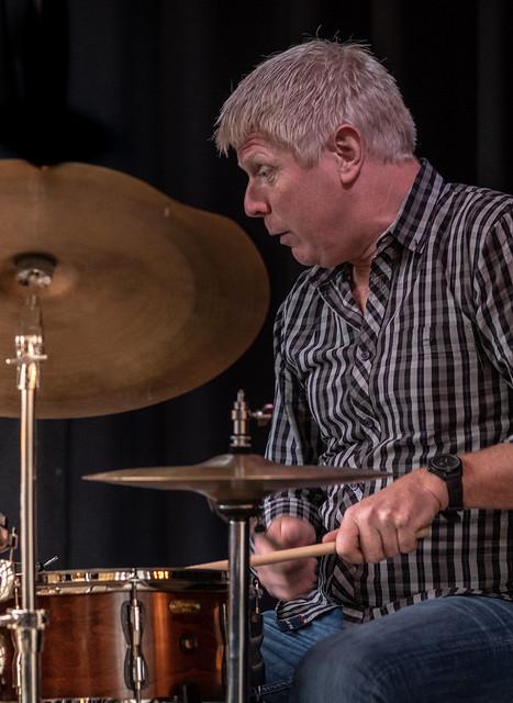 Martin Maretti Andersen, drums, in the danish jazztrio