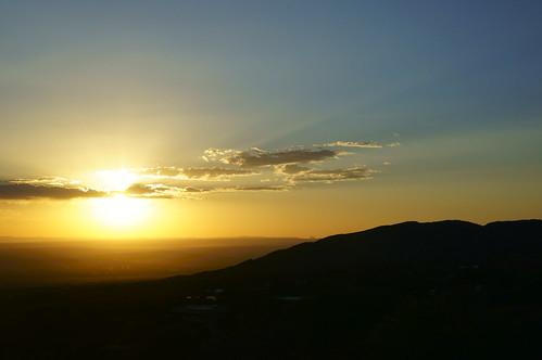 newmexico sunset mountain cloud sky silhouette landscape
