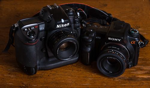 Nikon D2X (2005) / Sony Alpha 700 (2007) | by maoby