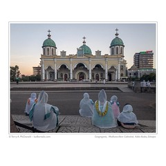 Evening Congregants, Medhane-Alem Ethiopian Orthodox Cathedral, Addis Ababa, Ethiopia