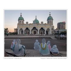 Evening Congregants, Medhane-Alem Ethiopian Orthodox Cathedral, Addis Ababa, Ethiopia