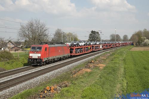 186 333 . DB Cargo . 49568 . Würm , Geilenkirchen . 07.04.19.