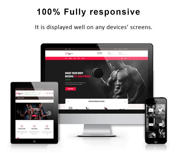 Bos Gymgear Creative PrestaShop Sport Theme - Fully responsive
