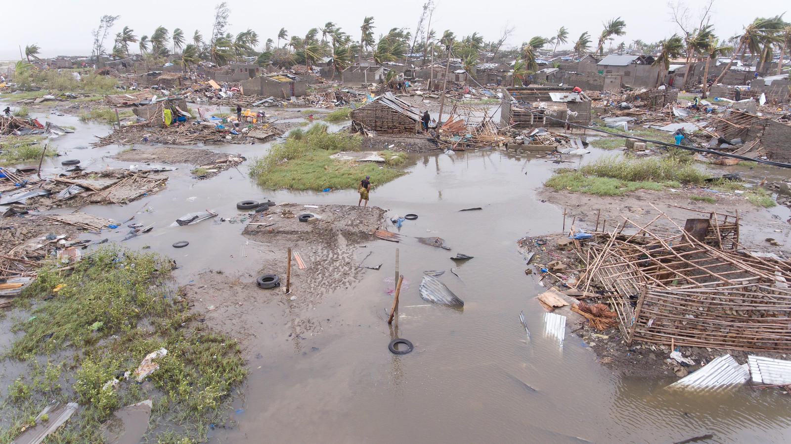 photo of aftermath of Cyclone Idai in Mozambique