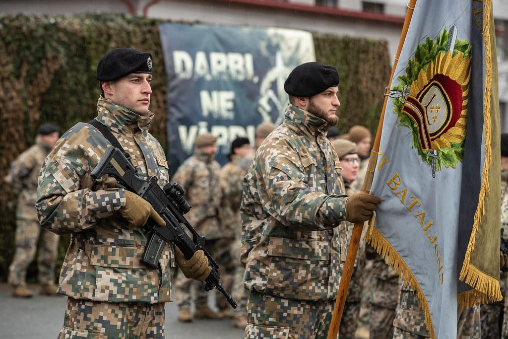 Sauszemes spēku Mehanizētās kājnieku brigādes 2. mehanizētā kājnieku bataljona komandiera svinīgā maiņas ceremonija