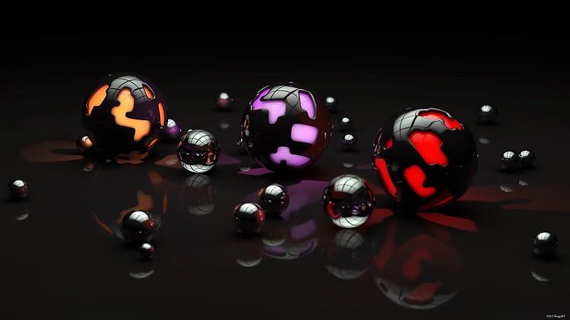 Обои шары, формы, свет, темный картинки на рабочий стол, фото скачать бесплатно