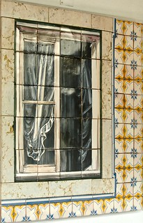 A Traditional Portuguese window (Drawed on tiles)