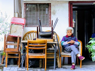 Granny and old furnitrue, #Shanghai