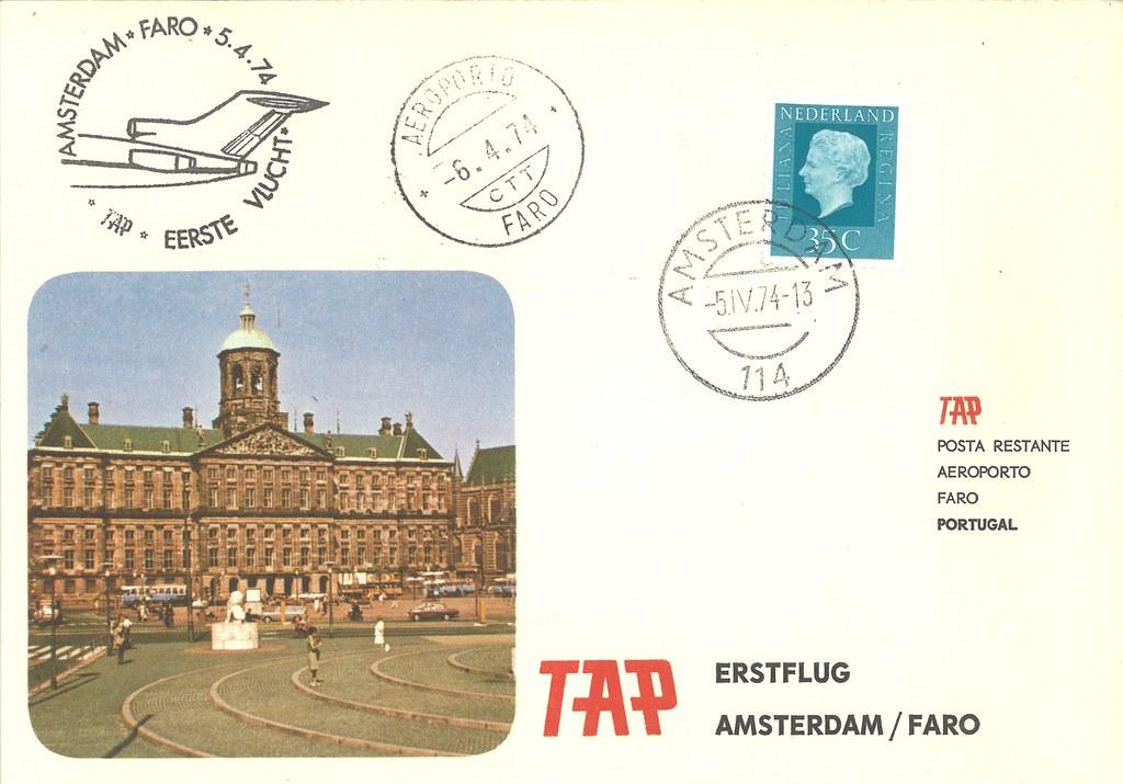 Comemoração do voo inaugural Amesterdão/Faro, Posta-restante, a 20 dias do grande acidente nacional.
