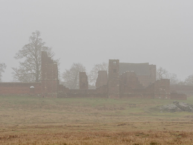 Bradgate House in the mist