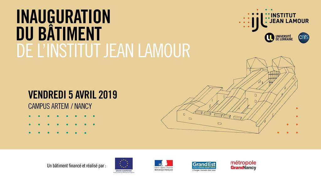 Inauguration du bâtiment de l'Institut Jean Lamour