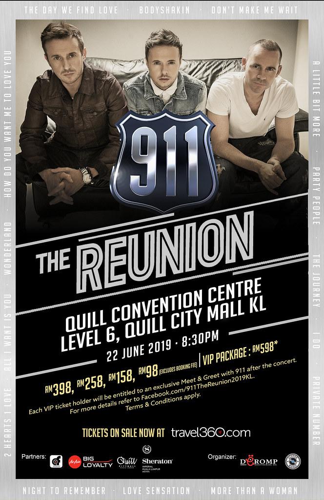 911 The Reunion 2019: Kuala Lumpur Tickets On Sale On 18 April 2019 Onwards!