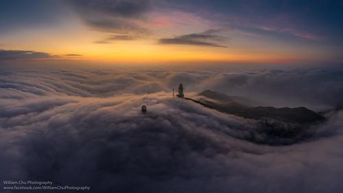 cloud taimoshan landscape hiking sunrise dawn 大帽山 雲海 cityscape drone aerial aerialview m2p mavic2 mavic2pro dji city