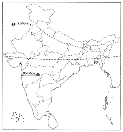 Class 10 History Map Work Chapter 3 Nationalism in India A1