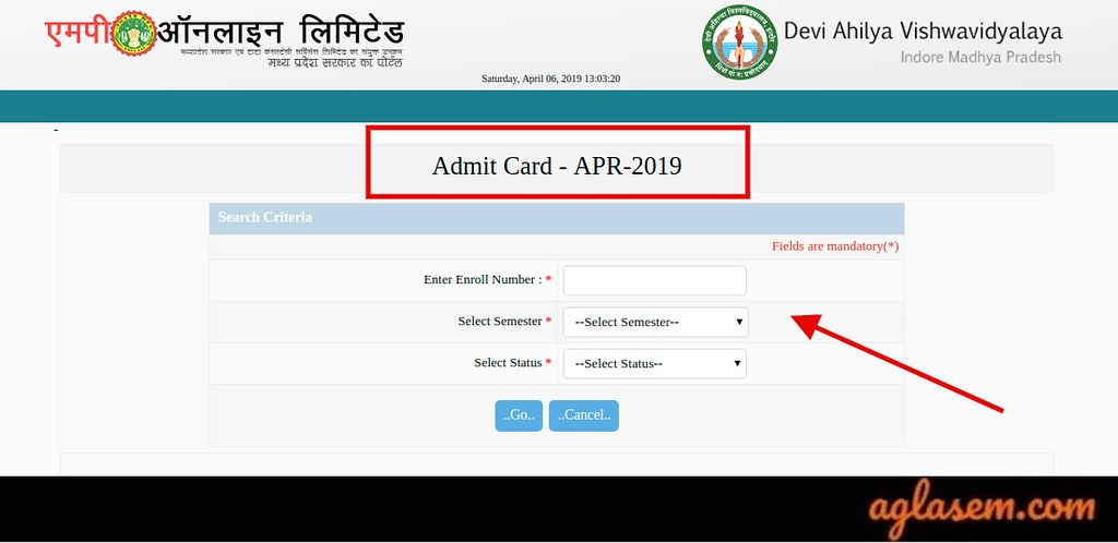 DAVV Admit Card 2019 for Yearly Exam Released; Download at davv.mponline.gov.in