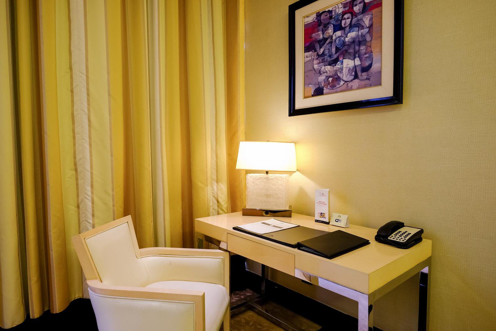 Desk in the corner