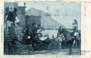 Palermo - S.M. il Re al Torneo storico