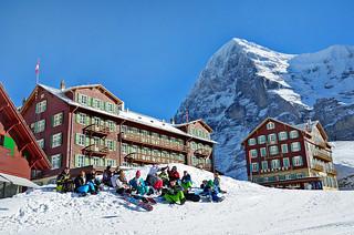 Eiger and Kleine Scheidegg, Bernese Oberland - 28 Jan 2014