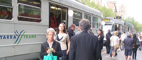 Swanston Street tram stop, 2009