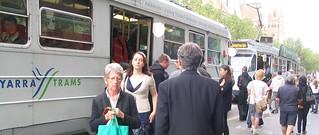 Swanston Street tram stop, 2009   by Daniel Bowen