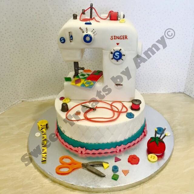Sewing Machine Cake from Sweet Treats by Amy
