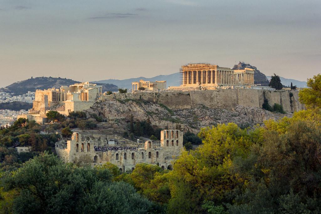 Atardecer en Acropolis