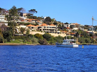 Perth. Suburbs along the Swan River.